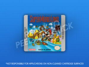 GameBoy - Super Mario Land Label