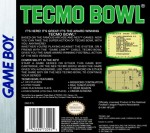 GameBoy - Tecmo Bowl (back)