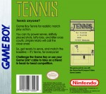 GameBoy - Tennis (back)