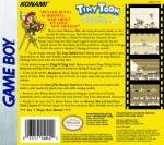 GameBoy - Tiny Toon Adventures 2: Montana's Movie Madness (back)