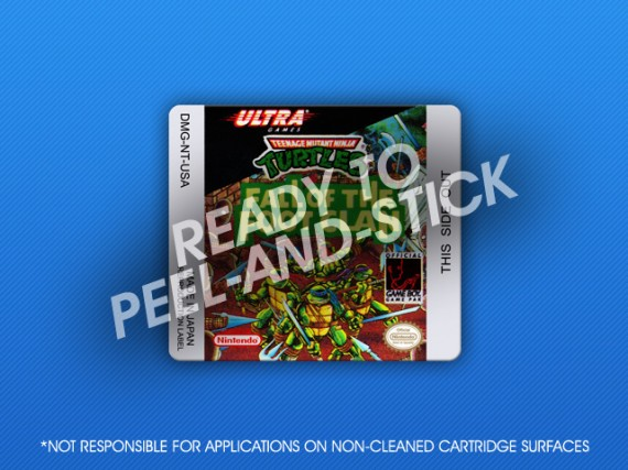 GameBoy - TMNT: Fall of the Footclan Label