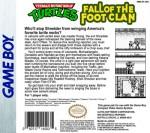 GameBoy - Teenage Mutant Ninja Turtles: Fall of the Foot Clan (back)