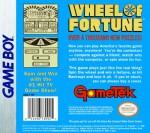 GameBoy - Wheel of Fortune (back)