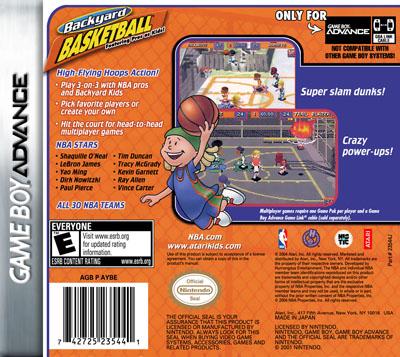 GameBoy Advance - Backyard Basketball Featuring Pros as ...