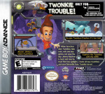 GameBoy Advance - Adventures of Jimmy Neutron Boy Genius: Attack of the Twonkies (back)
