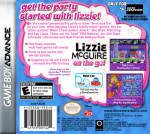 GameBoy Advance - Lizzie McGuire: On the Go! (back)