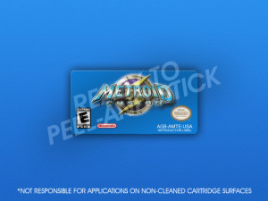 GameBoy Advance - Metroid Fusion Label