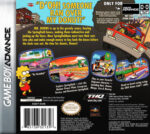 GameBoy Advance - Simpsons Road Rage (back)