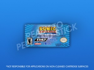 GameBoy Advance - Sonic Advance Label