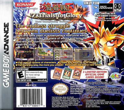 Yu Gi Oh 7 Trials To Glory Retro Game Cases