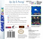 GameBoy Color - Dragon Tales Dragon Wings (back)