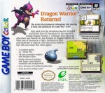 GameBoy Color - Dragon Warrior I & II (back)