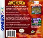 GameBoy Color - Duke Nukem (back)