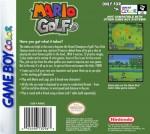 GameBoy Color - Mario Golf (back)