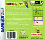 GameBoy Color - Mario Tennis (back)
