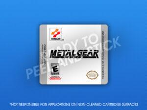 GameBoy Color - Metal Gear Solid Label