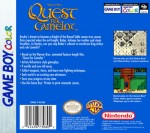 GameBoy Color - Quest for Camelot (back)