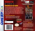 GameBoy Color - Resident Evil Gaiden (back)