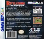 GameBoy Color - Revelations: The Demon Slayer (back)