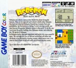 GameBoy Color -  Robopon Sun Version (back)