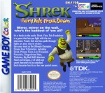 GameBoy Color - Shrek: Fairy Tale Freakdown (back)