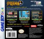 GameBoy Color - Spider-Man 2: The Sinister Six (back)