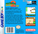 GameBoy Color - Super Mario Land 2: 6 Golden Coins DX (back)