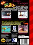 Sega Genesis - Aaahh!!! Real Monsters (back)