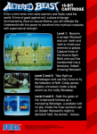 Sega Genesis - Altered Beast (back)