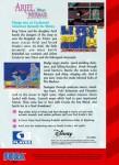 Sega Genesis - Ariel The Little Mermaid (back)