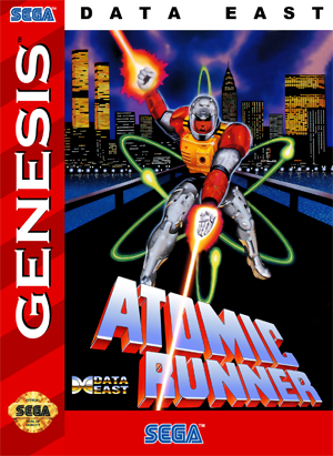Sega Genesis Atomic Runner Custom Game Case Retro Game
