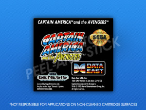 Sega Genesis - Captain America and the Avengers Label