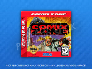 Sega Genesis - Comix Zone Label