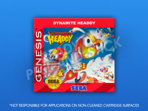 Sega Genesis - Dynamite Headdy Label