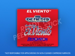 Sega Genesis - El Viento Label