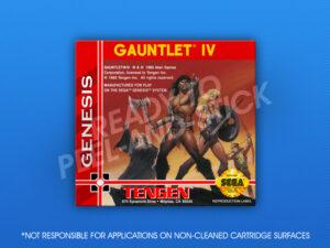 Genesis - Gauntlet IV Label