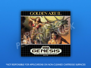 Sega Genesis - Golden Axe II Label