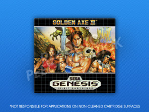 Sega Genesis - Golden Axe III Label