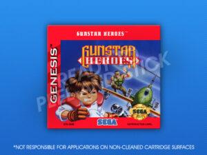 Sega Genesis - Gunstar Heroes Label