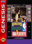Sega Genesis - Lakers versus Celtics and the NBA Playoffs (front)