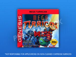 Sega Genesis - Mega Turrican Label