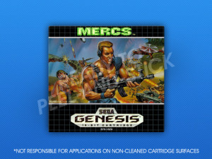 Sega Genesis - MERCS Label