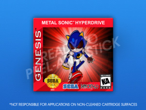 Sega Genesis - Metal Sonic Hyperdrive Label
