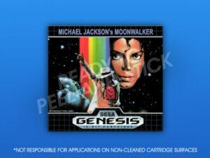Sega Genesis - Michael Jackson's Moonwalker Label