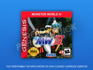 Genesis - Monster World IV Label