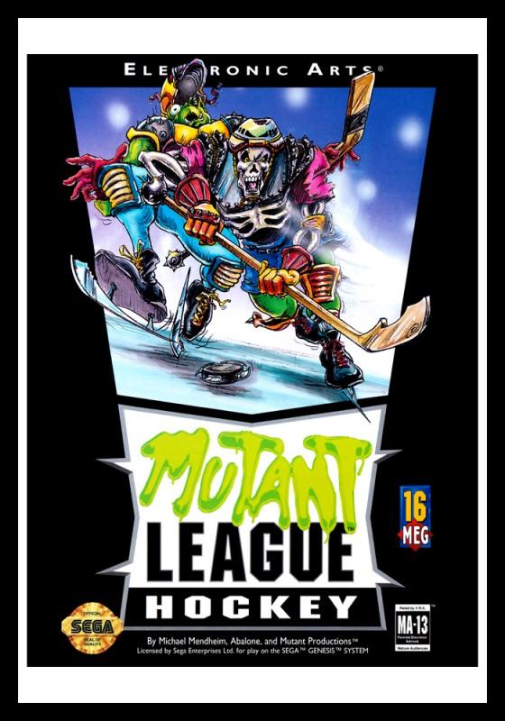 Genesis - Mutant League Hockey Poster