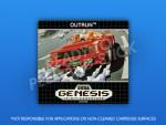 Sega Genesis - Outrun Label