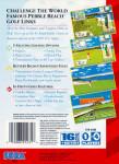 Sega Genesis - Pebble Beach Golf Links (back)