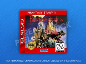 Sega Genesis - Phantasy Star IV Label