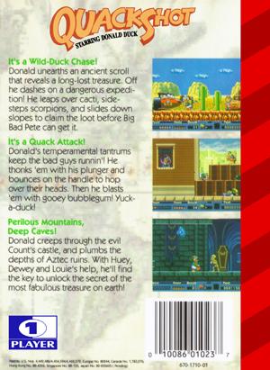 Sega Genesis - Quackshot Starring Donald Duck (back)